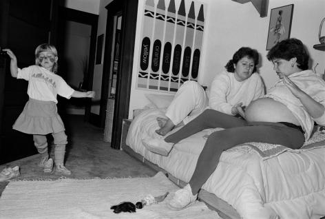 Sage Sohier, Kathy & Lisa with Kylie, Berkeley, CA, 1987