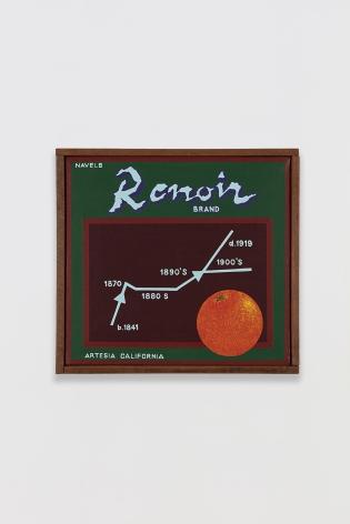 Ben Sakoguchi, Orange Crate Label Series: Renoir Brand, c. 1974-81