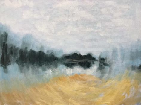 Shaun C. Murphy Dynamic Landscape 1, 2017 Oil on canvas 45 x 60 cm