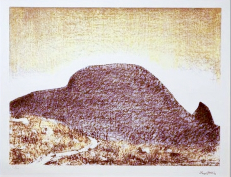 Lloyd Rees Late Afternoon. A Day on the Derwent, 1984 Sandy Bay Set Lithograph Printed by Fred Genis
