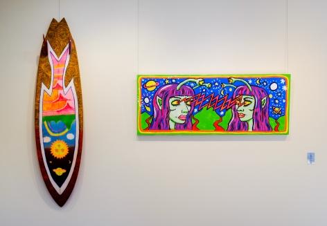 Byron Bay Surf Festival Art Show Ozzie Wright Installation View 2017