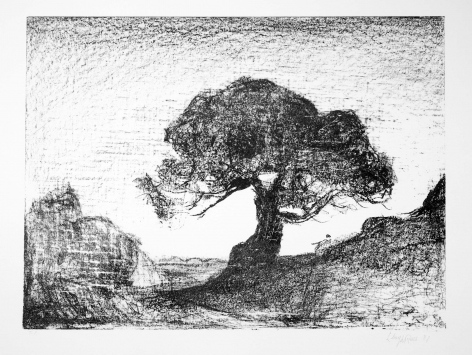 Lloyd Rees Veteran Tree, 1983 Lithograph Printed by Fred Genis