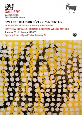 Five Lone Goats On Cezanne's Mountain Lone Goat Gallery exhibition Postcard 2020