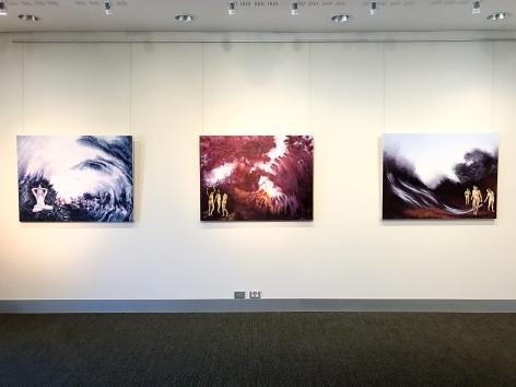 Shaun C. Murphy Nocturnal Flux exhibtion  Installation View 2017 Lone Goat gallery
