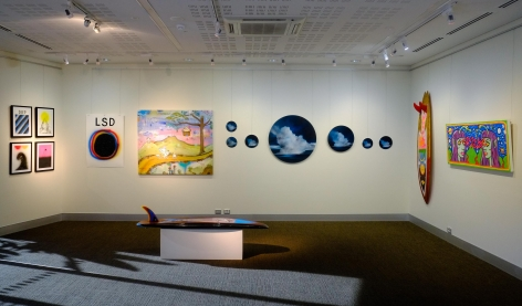 Byron Bay Surf Festival Art Show Installation View 2017at Lone Goat Gallery
