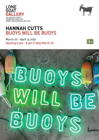 Hannah Cutts Buoys Will be Buoys Lone Goat Gallery exhibition Postcard ​2020