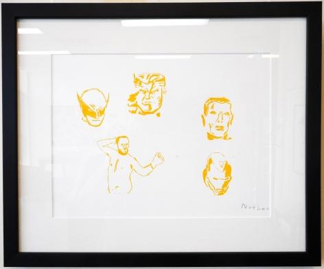 Nathan Gooley The Gooley Gang, 2017 screenprint on paper 30 x 40 cm