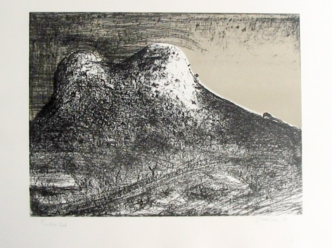 Lloyd Rees The Two Peaks, Southern Tasmania, 1988 Lithograph Printed by Fred Genis