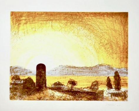 Lloyd Rees Western Sky, 1987-88 Lithograph Printed by Fred Genis
