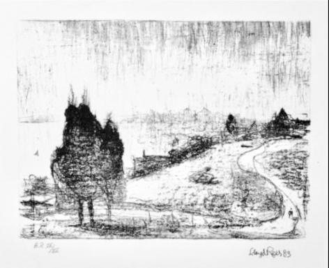 Lloyd Rees Illawarra Landscape, 1980 Lithograph Printed by Fred Genis