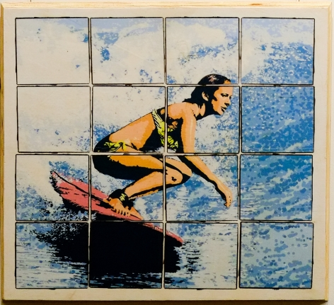 Graham 'Potts' Porter Cruising Mixed media on salvaged timber Edition Of 25 each 2016