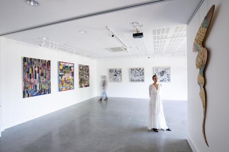 Lone Goat Gallery Breaking Boundaries Exhibition - Installation view. Photo credit: Jaka Adamic (Instagram - @mijadaster)