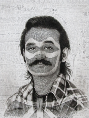 Laith McGregor, Lone Goat Gallery, Rhythm and Motion Exhibition 'Bill' pencil on paper 2016