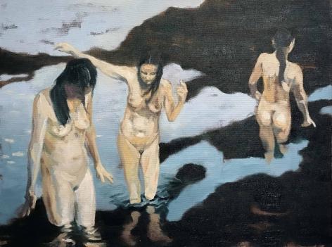 Shaun C. Murphy Figurative Landscape 4, 2017 Oil on canvas 45 x 60 cm