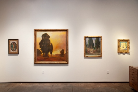 The Summer Salon 2019 installation photograph with Leon Dabo, Bjorn Rye, and Colin Campbell Cooper