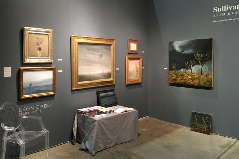 Seattle Art Fair, 2016 installation photograph, Leon Dabo, Chris Peters