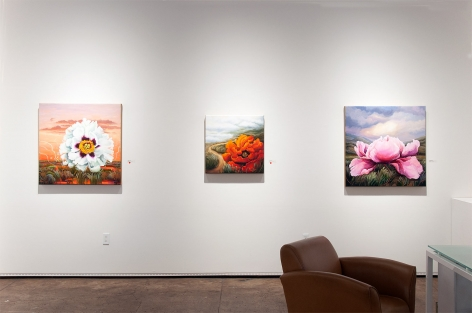 Installation photograph of PHOEBE BRUNNER: A Wild Delight with Heartbeat, Viva, and Perception Becomes Joy
