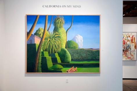Installation photograph of California on my Mind, Frank Kirk, Wosene Worke Kosrof in background