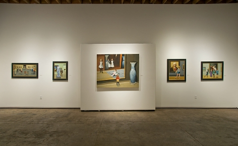 Installation photograph of MICHAEL DVORTCSAK: A Life's Work with The Prado, Neo, Visiting the Boat Sisters, Dutch and the Maiden, Four Love Stories