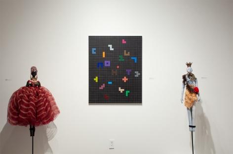 Installation photograph of The Summer Salon, Paulo Lima and Sidney Gordin