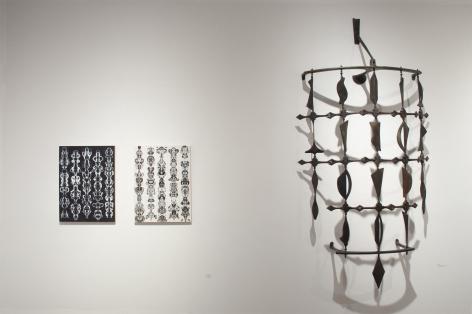 Installation photograph of ORGANIC: Textural & Biomorphic • Abstract & Conceptual: Clay, Wood, Fiber, Paper & Metal, Brad Miller, Neil Goodman