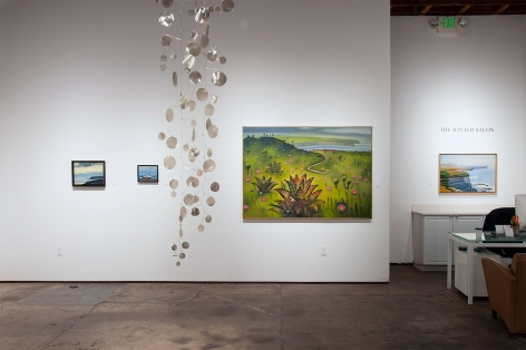 Installation photograph of The Winter Salon II, 2019 with Hank Pitcher and Ken Bortolazzo