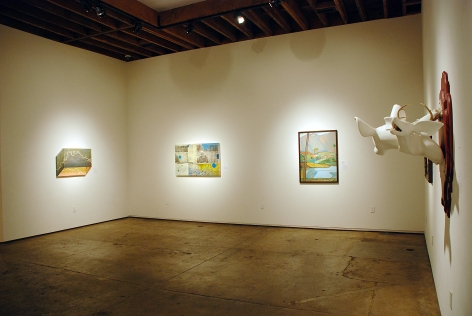 10 UNDER 30, 2013 installation photograph, Clare Little, Amalia Mourad, Erik Berg, Casey Underwood