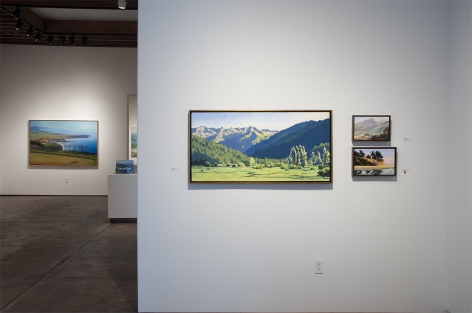 Installation photograph of ROBIN GOWEN: Sight Lines, 2021 with Hank Pitcher in background