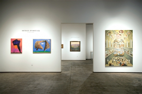 Installation photograph of MICHAEL DVORTCSAK: A Life's Work with Forex, Post Aftermath Being, The Sistine Chapel