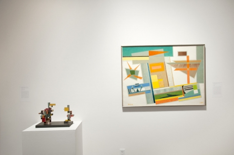 Installation photograph of THE ANCHORS: Masterworks from the Estates at Sullivan Goss, Sidney Gordin, Werner Drewes