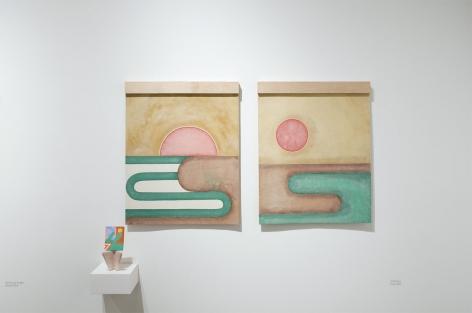 Installation photograph of ORGANIC: Textural & Biomorphic • Abstract & Conceptual: Clay, Wood, Fiber, Paper & Metal, Nathan Hayden