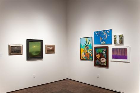 MIXOLOGY installation photograph with Lockwood de Forest, Chris Peters, Anya Fisher, Jean Swiggett, Angela Perko, Joseph Goldyne, and Harvey Leepa