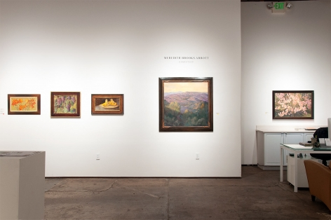 Installation photograph of MEREDITH BROOKS ABBOTT: Homestead with Tiger Lillies, Grapes, Chantrelle Mushrooms, Slanting Light, and Stone Fruit Blossoms