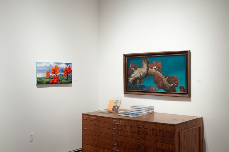 Installation photograph of The Summer Salon, 2020, Phoebe Brunner, Alexis Many