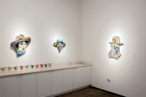 INGA GUZYTE #rebelwomen installation photograph, Germaine Greer, Malala, Inga Guzyte