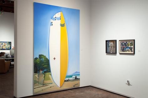 Installation photograph of The Summer Salon, 2020, Hank Pitcher, David Flores, Howard Warshaw