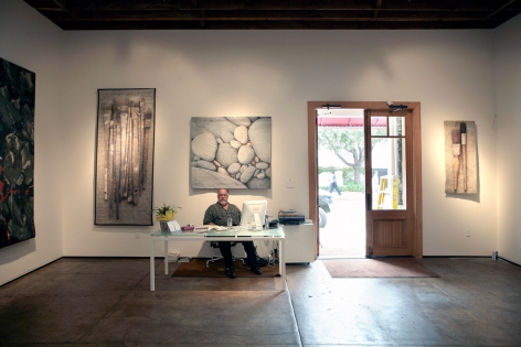 Installation photograph of Tapestries exhibition, Alan Magee,