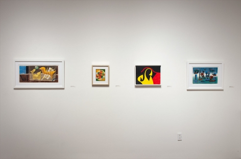 Installation photograph of DREWES | FISCHINGER | GORDIN: The Invention of American Abstract Art