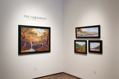 THE OAK GROUP: Icons of Preservation installation photograph with Kevin Gleason, Ray Hunter, Carrie Givens, and Ann Sanders