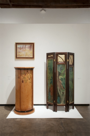 Installation photograph of ORGANIC: Textural & Biomorphic • Abstract & Conceptual: Clay, Wood, Fiber, Paper & Metal, Nell Brooker Mayhew, Paul Schurch, Jessie Arms Botke and Carleton Kirkegaard