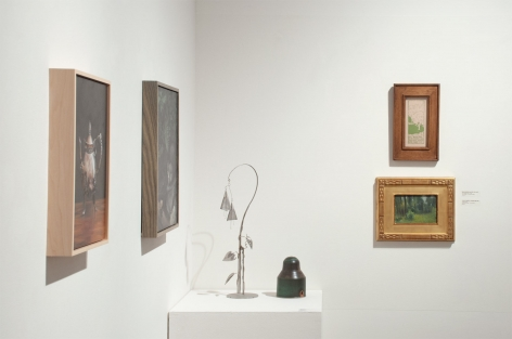 Installation photograph of The Winter Salon, 2020 with Leslie Lewis Sigler, Susan McDonnell, Nell Brooker Mayhew, Colin Campbell Cooper, Ken Bortolazzo and Will Simons