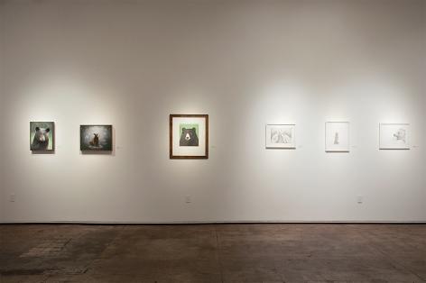 Contemporary Bear Area Artists Installation photograph, Susan McDonnell, Beth Van Hoesen, Adonna Khare