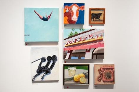 100 GRAND 2019 installation shot with Tracey Sylvester-Harris, Susan Shapiro, Whitney Brooks Abbott, Kris Doe, Kathleen Klein-Wakefield, Karen Valle, Bradford Salamon