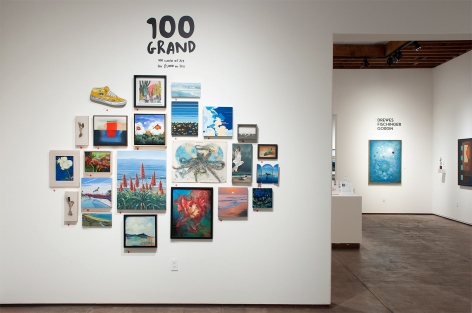 Installation photograph of 100 GRAND, 2020