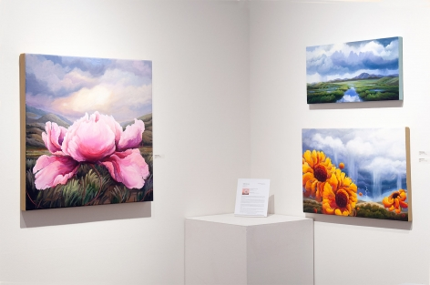 Installation photograph of PHOEBE BRUNNER: A Wild Delight with Perception Becomes Joy, Sometimes a River, and Bounce
