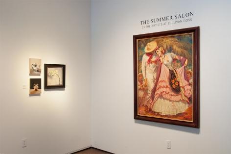 Installation photograph of SUMMER SALON II, 2019 with Jesus Helguera, Leslie Lewis Sigler and Alia E. El-Bermani