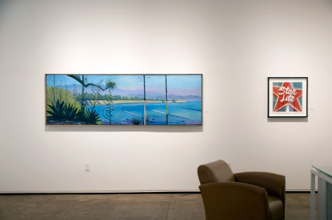 Installation photograph of California on my Mind, Hank Pitcher, Dave Lefner