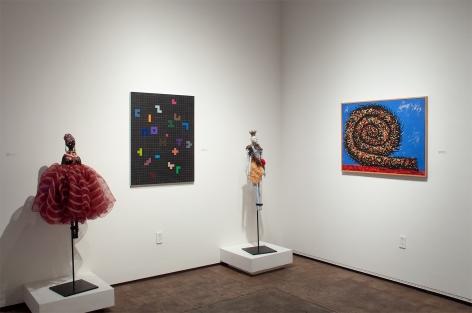 Installation photograph of The Summer Salon, 2020, Paulo Lima, Sidney Gordin, Michael Dvortcsak