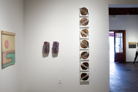 Installation photograph of ORGANIC: Textural & Biomorphic • Abstract & Conceptual: Clay, Wood, Fiber, Paper & Metal, Nathan Hayden, Minga Opazo, R. Nelson Parrish