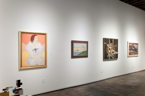 Installation photograph of THE ANCHORS: Masterworks from the Estates at Sullivan Goss, Anya Fisher, Frederick Remahl, Edgar Ewing, Richard Haines